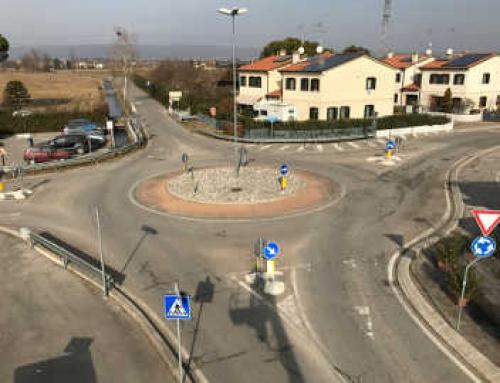 Rotatoria a Ponzano Veneto in Località Loschi