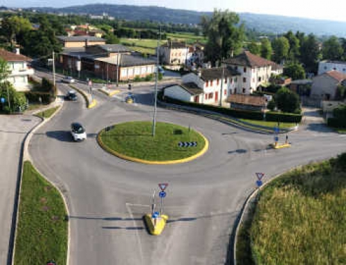 Rotatoria in Montebelluna: Via Villette e Via Tezzon